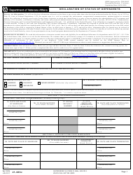 VA Form 21-686c Declaration of Status of Dependents