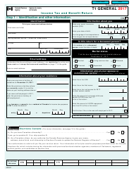 "Form T1 GENERAL ""Income Tax and Benefit Return"" - Canada, 2017"