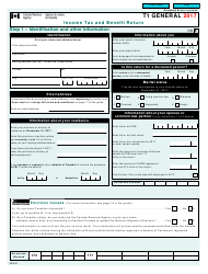 Form T 1 GENERAL 2017 Income Tax and Benefit Return