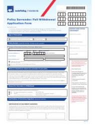 Philippines Policy Surrender/Full Withdrawal Application ...