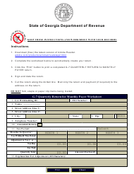 "Form G-7 ""Quarterly Return for Monthly Payer"" - Georgia (United States)"