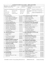 "CAP Form 5 ""CAP Pilot Flight Evaluation - Airplane/Glider"""