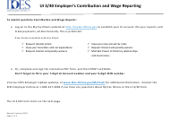 """Form UI3/40 """"Employer's Contribution and Wage Report"""" - Illinois"""