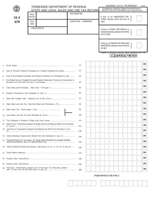 Form SLS450 Printable Pdf