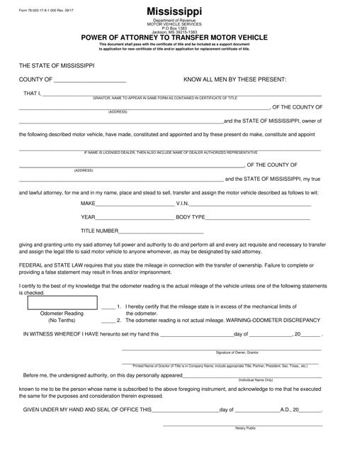 Form 78003  Printable Pdf