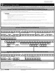 VA Form 21-4142 Authorization to Disclose Information to the Department of Veterans Affairs