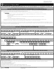 "VA Form 21-4142 ""Authorization to Disclose Information to the Department of Veterans Affairs"""
