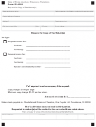 Form RI-4506 Request for Copy of Tax Return(S) - Rhode Island