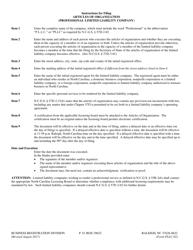 Form PLLC-02 Articles of Organization (Professional Limited Liability Company) - North Carolina