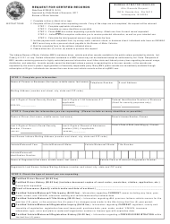 Form 53789 Request for Certified Records - Indiana