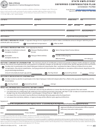 "Form CMS-DC-274 ""State Employees' Deferred Compensation Plan - Change Form"" - Illinois"