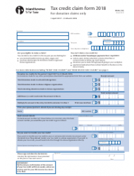 Form IR 526 2018 Tax Credit Claim Form