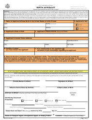 "Form DS-10 ""Birth Affidavit"""
