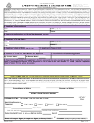 "Form DS-60 ""Affidavit Regarding a Change of Name"""