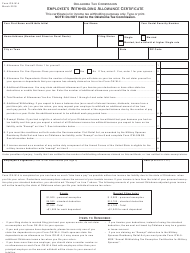 "OTC Form W-4 ""Employee's Withholding Allowance Certificate"" - Oklahoma"