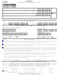 Form R-8453 2017 Individual Income Tax Declaration - Louisiana