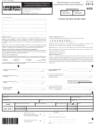 "Form R-1201 ""First Quarter Employer's Return of Louisiana Withholding Tax Form L-1"" - Louisiana, 2018"