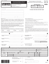 Form R-1201 2018 First Quarter Employer's Return of Louisiana Withholding Tax Form L-1 - Louisiana