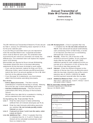 Form DR 1093 Annual Transmittal of State W-2 Forms - Colorado