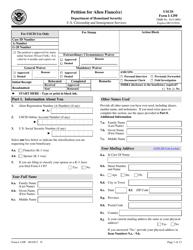 USCIS Form I-129F Petition for Alien Fiance(E)