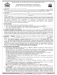 "TREC Form 9-13 ""Unimproved Property Contract"" - Texas"