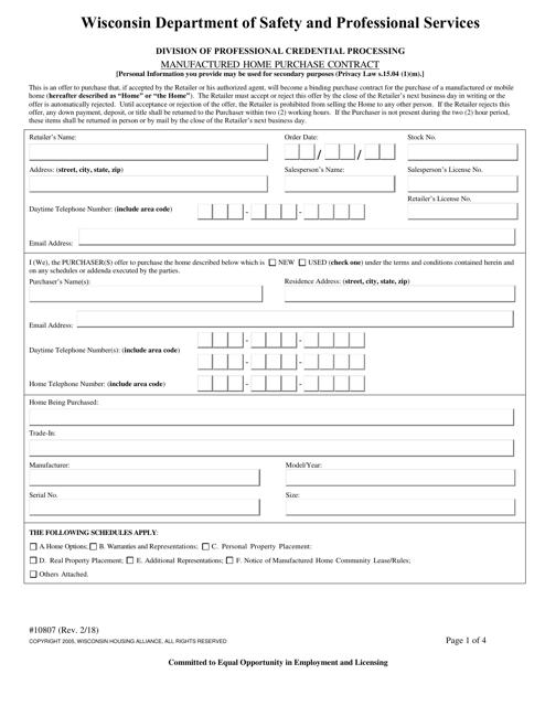 Form 10807 Printable Pdf