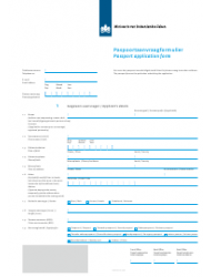 Passport Application Form (Dutch/English)