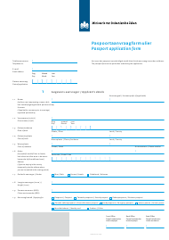 """Passport Application Form"" - Netherlands (English/Dutch)"