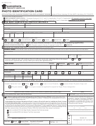 Form DL-54B Photo Identification Card - Application for Change/Correction/Replacement/Renew - Pennsylvania