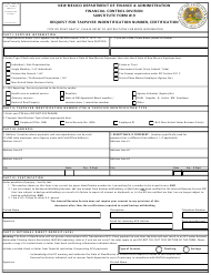 "Form W-9 ""Request for Taxpayer Indentification Number, Certification"" - New Mexico"