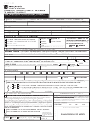 Form DL-80CD Commercial Driver's License Application to Duplicate/Correct - Pennsylvania