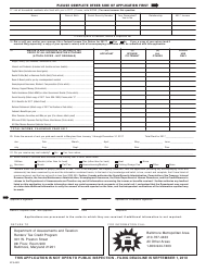 Form RTC-60 2018 Renters' Tax Credit Application - Maryland, Page 4