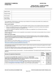 Phnom Penh Cambodia Australian Visa Application Checklist Australian Embassy Download Printable Pdf Templateroller