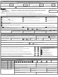 Form DL 1P Driver's License and Identification Card Application - Virginia