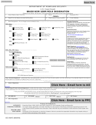 Form CG-7421D Image Now User Role Designation