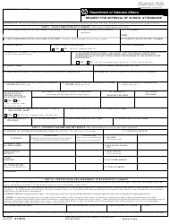 VA Form 21-674 Request for Approval of School Attendance