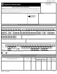 """VA Form 21-4140 """"Employment Questionnaire"""""""