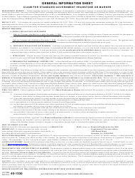 VA Form 40-1330 Claim for Standard Government Headstone or Marker
