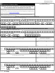 """VA Form 21-4142A """"General Release for Medical Provider Information to the Department of Veteran Affairs (VA)"""""""