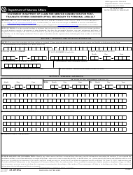 VA Form 21-0781A Statement in Support of Claim for Service Connection for Posttraumatic Stress Disorder (Ptsd) Secondary to Personal Assault