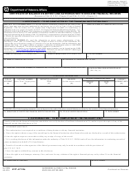 VA Form 21P-4718a Certificate of Balance on Deposit and Authorization to Disclose Financial Records