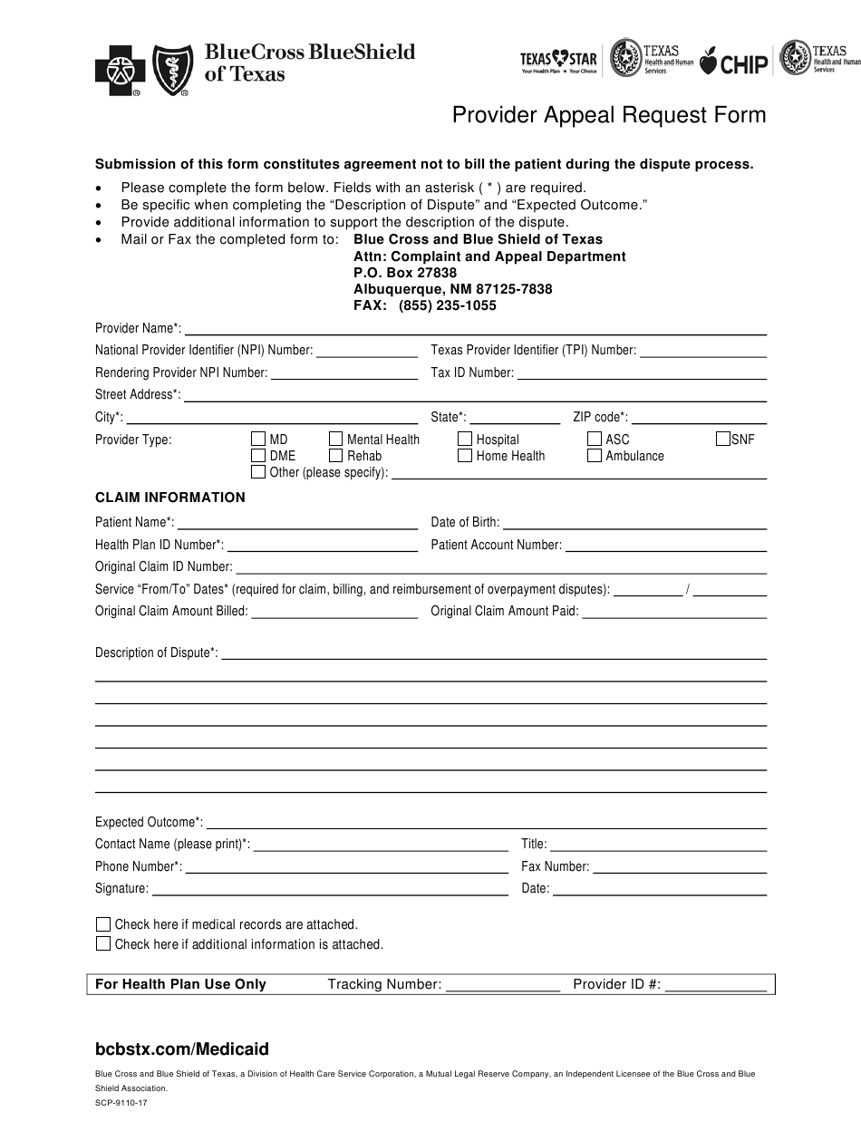 Form SCP-9110-17 Download Printable PDF or Fill Online ...