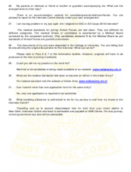 2018 Application Form for Grant of Short Service Commission in Army Dental Corps, Page 15