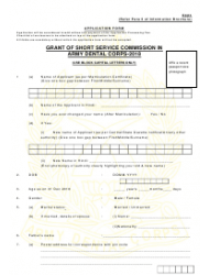 2018 Application Form for Grant of Short Service Commission in Army Dental Corps, Page 16