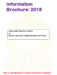 2018 Application Form For Grant Of Short Service Commission In Army Dental Corps