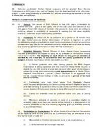 2018 Application Form for Grant of Short Service Commission in Army Dental Corps, Page 8