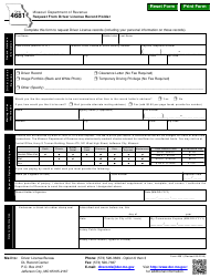 "Form 4681 ""Request From Driver License Record Holder"" - Missouri"