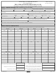 Form CG-719S Small Vessel Sea Service Form
