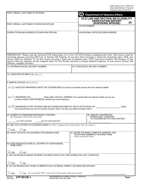 VA Form 21P-0512S-1 Printable Pdf