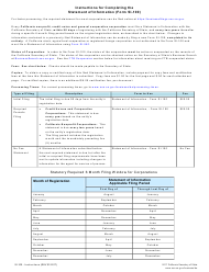 Form SI-100 Statement of Information - California